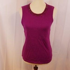 C. Wonder embellished neckline sleeveless sweater